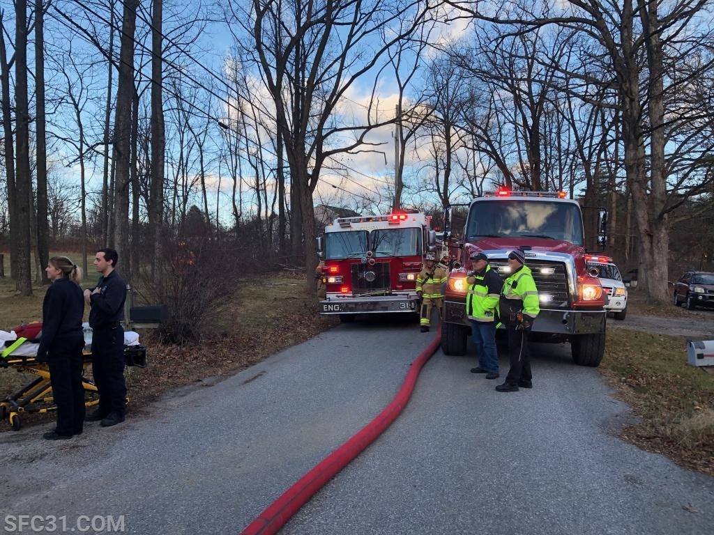 Engine 31-1 and Tanker 35 on Lilly Road.