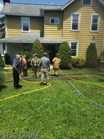 Firefighters have two lines in service on a residential structure fire in Sadsbury Township.