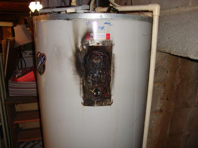 The Water Heater Eared To Be Shorting Out Causing An Electrical Burning Smell In Bat