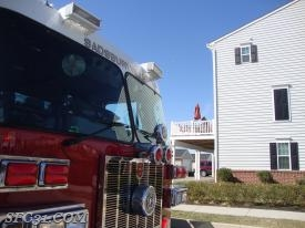 Sadsburyville Firefighters used a fire extinguisher to extinguish a barbecue grill on fire.