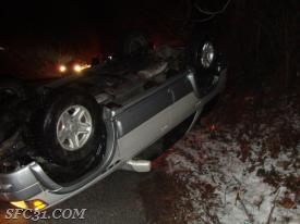 One vehicle overturned on the Route 30 Bypass as icy road conditions plagued the area.