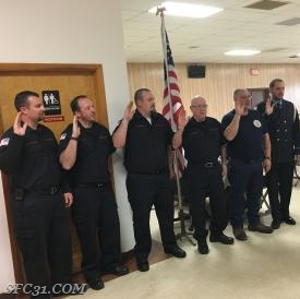 Fire Police sworn in by Judge Cabry to perform their duties.