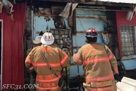 Westwood, Sadsburyville and Modena firefighters work cooperatively to bring the fire quickly under control.