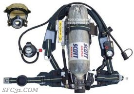 Example of an air pack or SCBA used in firefighting that will be replaced with an Assistance to Firefighter Grant.