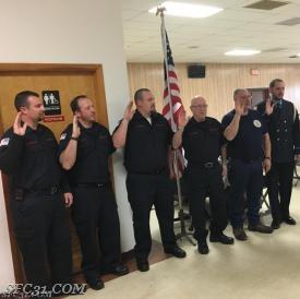 Fire Police sworn in.
