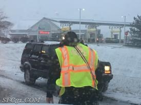 Initial incident at Routed 10 and 30, our fire police operating in the snow weather conditions.