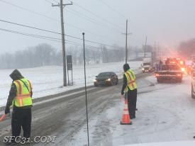 The 2nd incident, fire police direct traffic around a (2) vehicle accident on Route 30.
