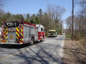 Engine 31-1 and Engine 48-5 on scene of a propane gas leak in West Caln Township.