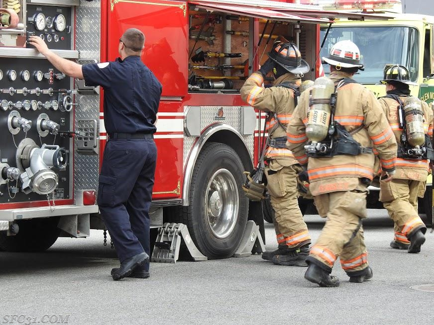 SFC firefighters train with mutual aid fire departments.