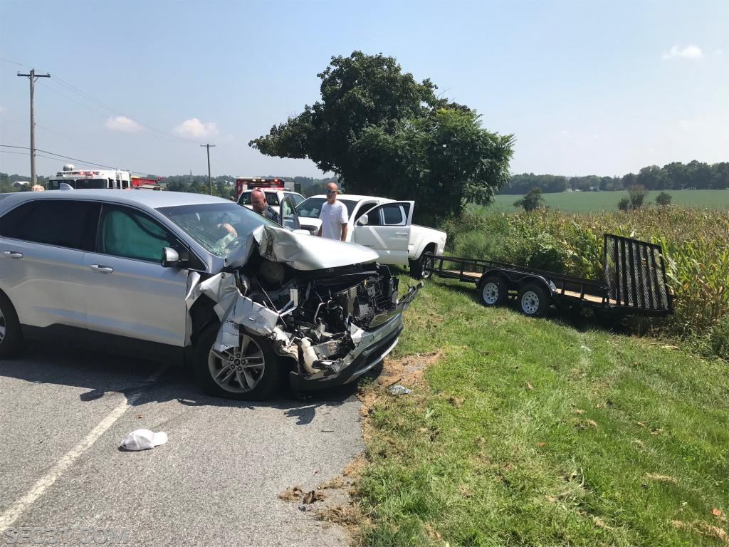 The second vehicle involved in the 2 vehicle accident.
