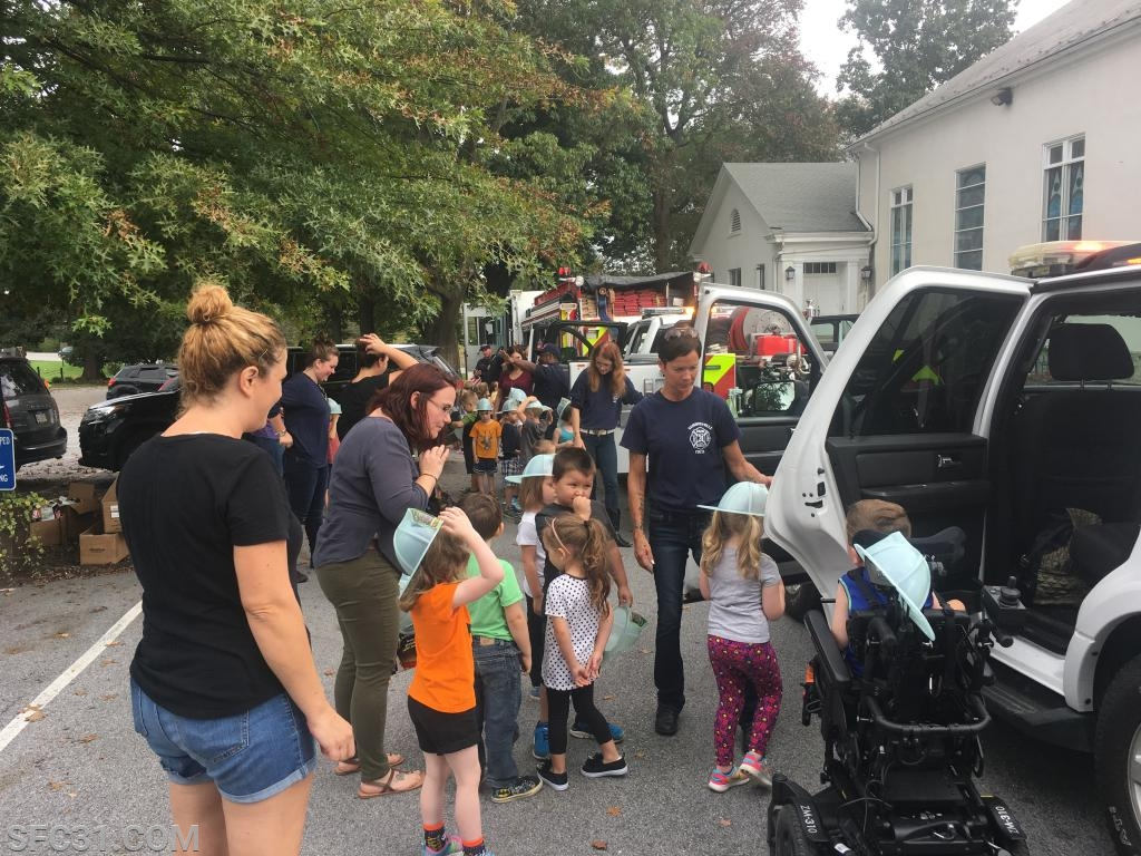 Fire prevention education at the Upper Octorara Presbyterian Church.