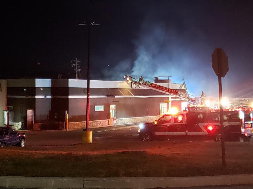 Firefighters responded to the local McDonald's for a building fire early Sunday Morning.