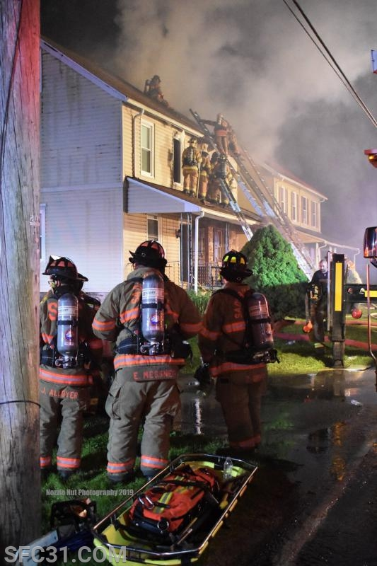 Sadsburyville Firefighters stand by as the second due FAST.
